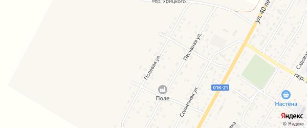 Полевая улица на карте Угловского села с номерами домов