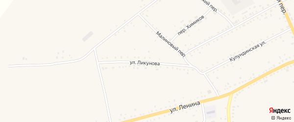 Улица Ликунова на карте села Родино с номерами домов