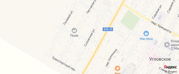 Солнечная улица на карте Угловского села с номерами домов