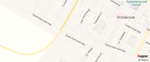 Улица Микрорайон на карте Угловского села с номерами домов