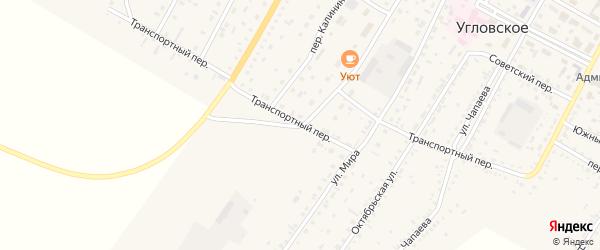 Транспортный переулок на карте Угловского села с номерами домов
