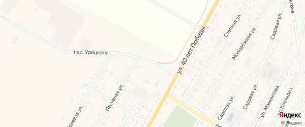 Переулок Урицкого на карте Угловского села с номерами домов