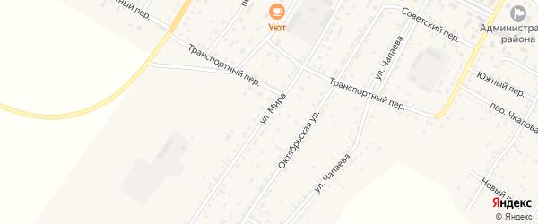 Улица Мира на карте Угловского села с номерами домов