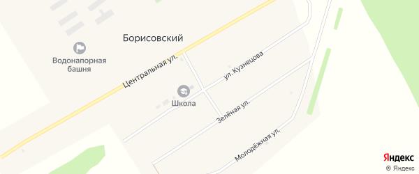 Улица Кузнецова на карте Борисовского поселка с номерами домов