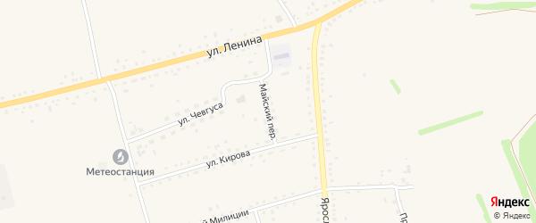 Майский переулок на карте села Родино с номерами домов