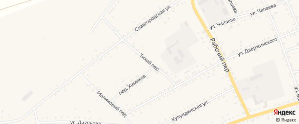 Тихий переулок на карте села Родино с номерами домов