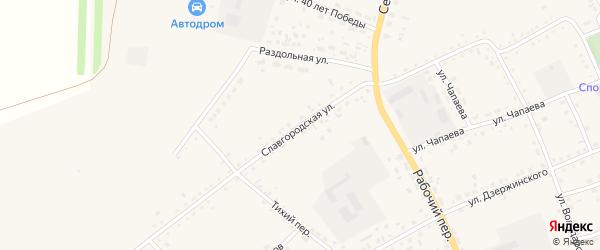 Славгородская улица на карте села Родино с номерами домов