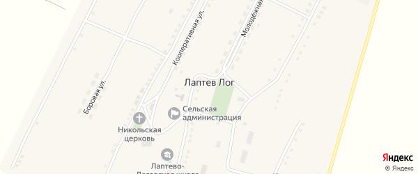 Степная улица на карте села Лаптева Лога с номерами домов