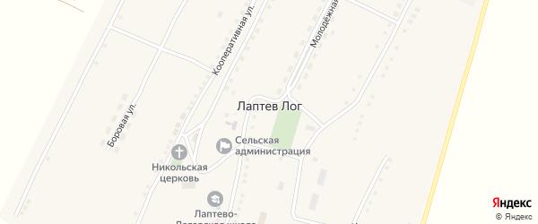 Кооперативная улица на карте села Лаптева Лога с номерами домов