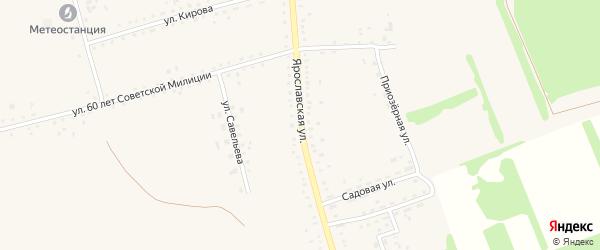 Ярославская улица на карте села Родино с номерами домов