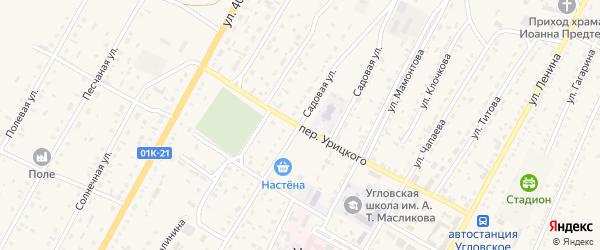 Садовая улица на карте Угловского села с номерами домов