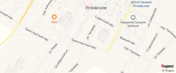 Улица Чапаева на карте Угловского села с номерами домов
