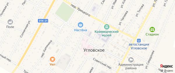 Переулок Калинина на карте Угловского села с номерами домов
