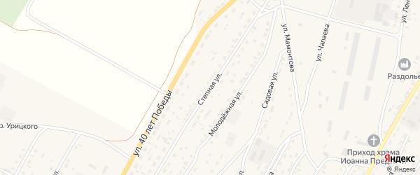 Степная улица на карте Угловского села с номерами домов