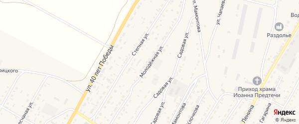 Молодежная улица на карте Угловского села с номерами домов