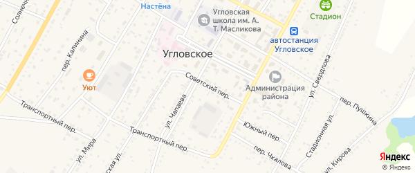Советский переулок на карте Угловского села с номерами домов