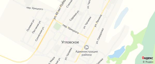 Карта Угловского села в Алтайском крае с улицами и номерами домов