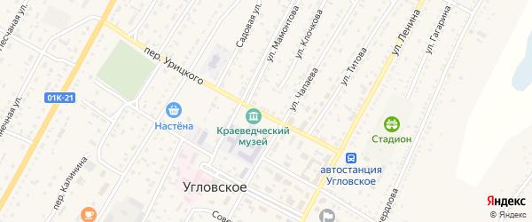 Совхозный переулок на карте Угловского села с номерами домов
