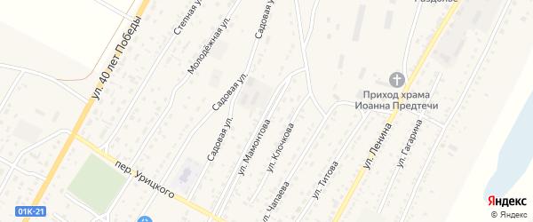 Улица Мамонтова на карте Угловского села с номерами домов