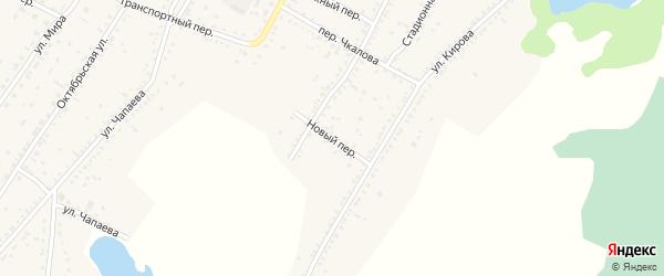 Новый переулок на карте Угловского села с номерами домов