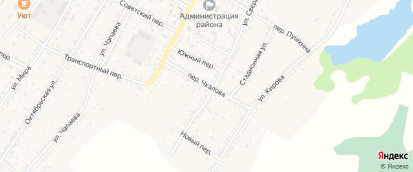 Переулок Чкалова на карте Угловского села с номерами домов