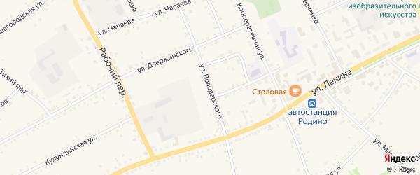 Улица Володарского на карте села Родино с номерами домов