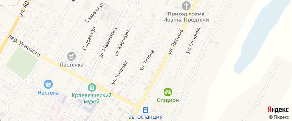 Улица Титова на карте Угловского села с номерами домов