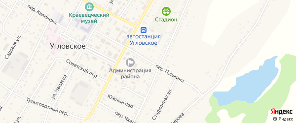 Переулок Пушкина на карте Угловского села с номерами домов