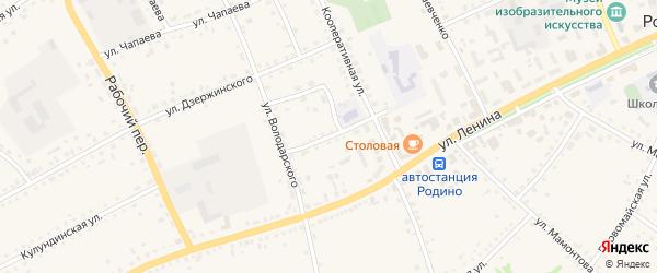 Улица Пушкина на карте села Родино с номерами домов