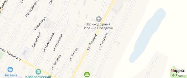 Улица Ленина на карте Угловского села с номерами домов