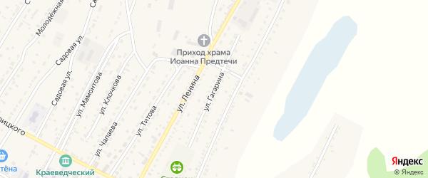 Улица Гагарина на карте Угловского села с номерами домов