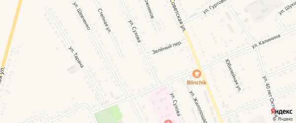 Улица Сухова на карте села Родино с номерами домов