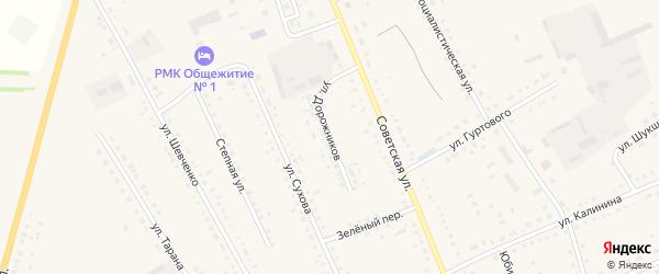 Улица Дорожников на карте села Родино с номерами домов
