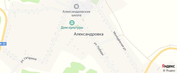 Улица Гагарина на карте села Александровки с номерами домов
