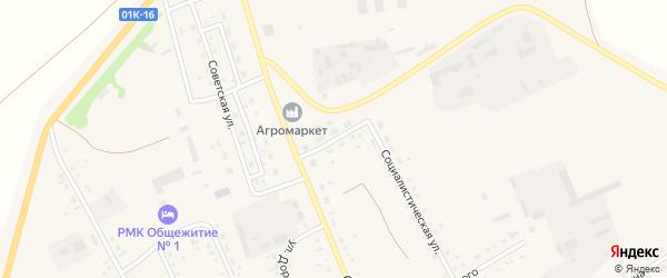 Северный переулок на карте села Родино с номерами домов
