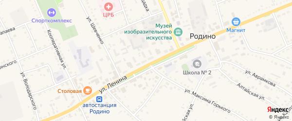 Улица Стасовой на карте села Родино с номерами домов