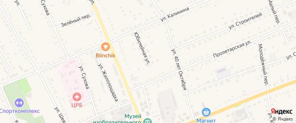 Юбилейная улица на карте села Родино с номерами домов