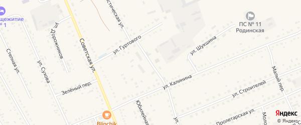 Улица Мелиораторов на карте села Родино с номерами домов