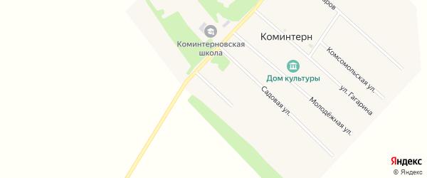 Улица 70 лет Октября на карте поселка Коминтерна с номерами домов