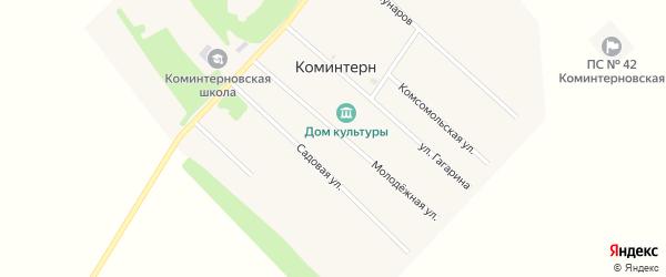 Садовая улица на карте поселка Коминтерна с номерами домов