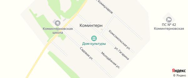 Молодёжная улица на карте поселка Коминтерна с номерами домов