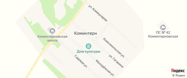 Улица Гагарина на карте поселка Коминтерна с номерами домов