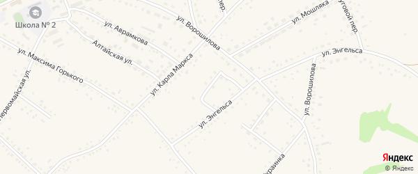 Нижний переулок на карте села Родино с номерами домов