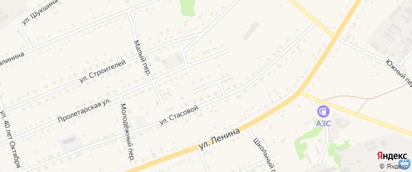 Медовый переулок на карте села Родино с номерами домов