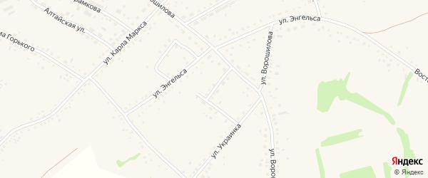 Полтавская улица на карте села Родино с номерами домов