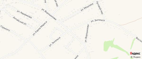 Улица Энгельса на карте села Родино с номерами домов