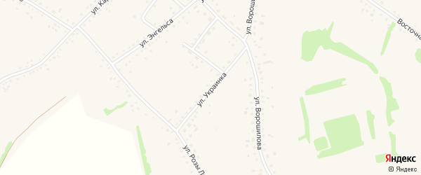Улица Украинка на карте села Родино с номерами домов