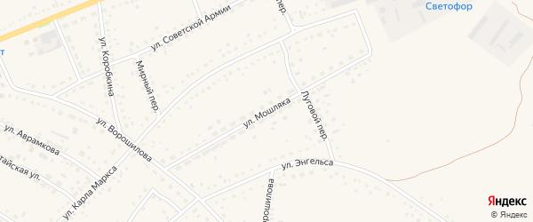 Улица Мошляка на карте села Родино с номерами домов