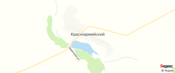 Карта Красноармейского поселка в Алтайском крае с улицами и номерами домов