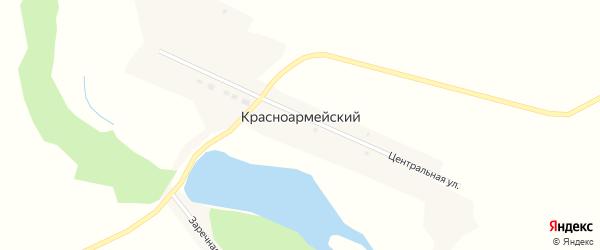 Центральная улица на карте Красноармейского поселка с номерами домов